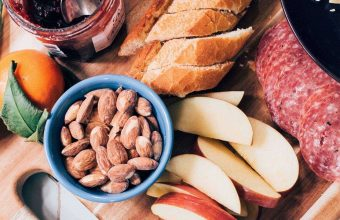 Almonds Apples Sausage Jam Breakfast 1024x600 340x220