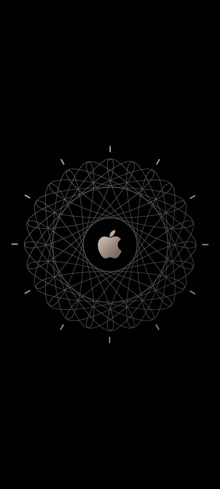 Apple Logo Brown Technology 1080x2400 768x1707