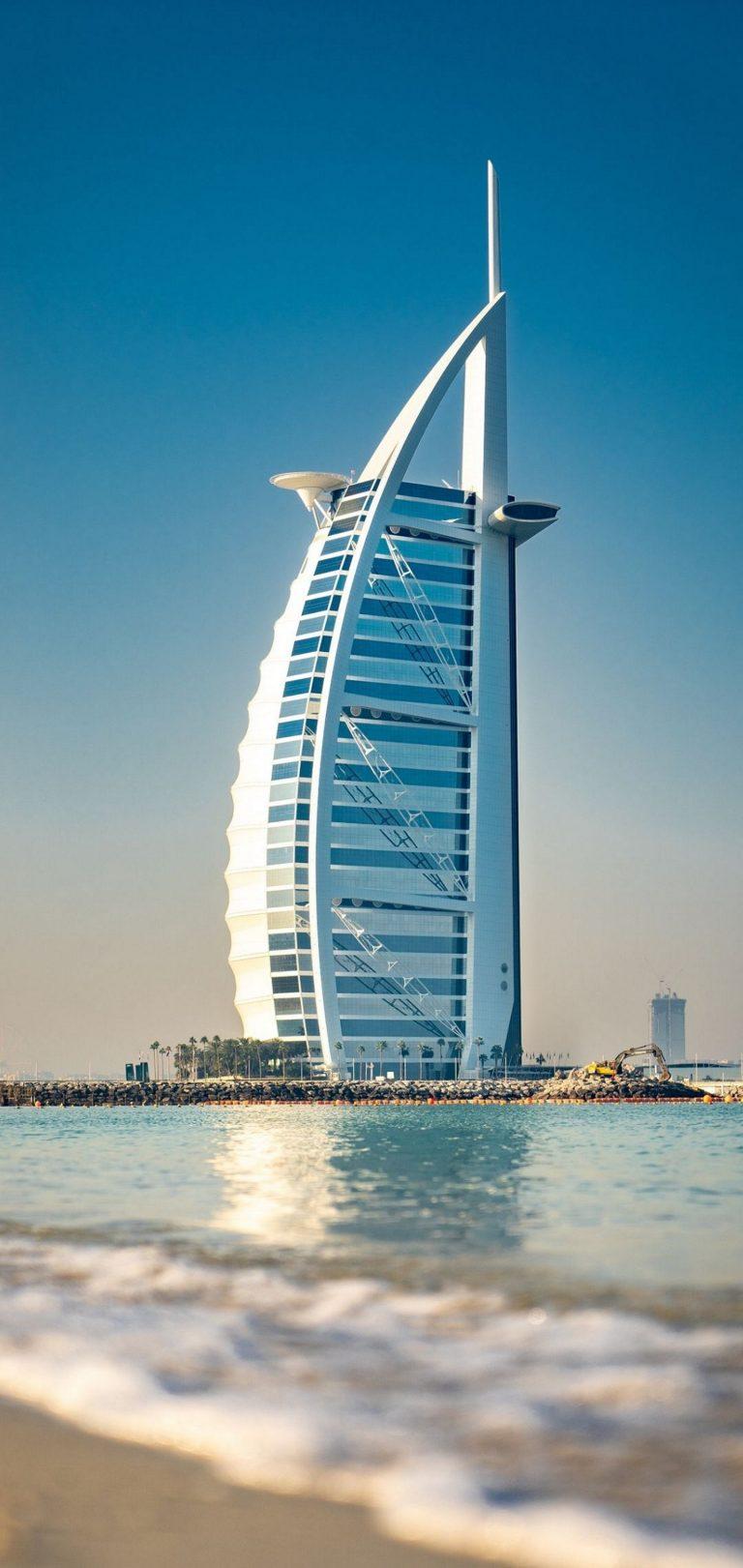 Architecture Building Burj Al Arab Wallpaper 1440x3040 768x1621