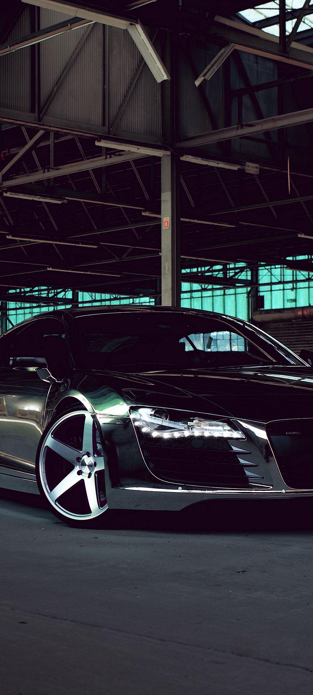 Audi R8 Chrome Cw 5 Matte Black Black Side View 1080x2400