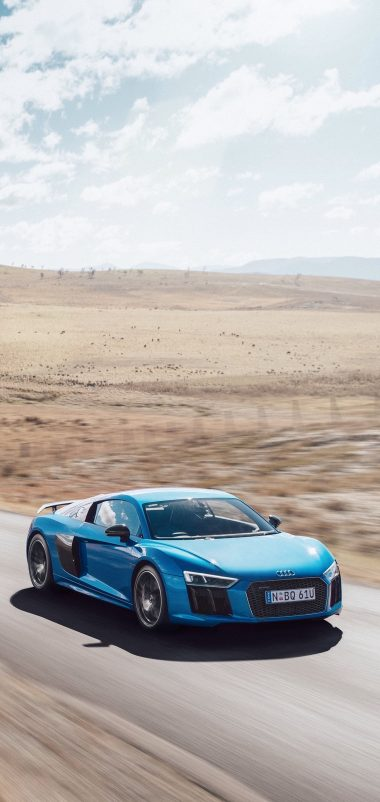 Audi R8 V10 Movement Road Wallpaper 1440x3040 380x802