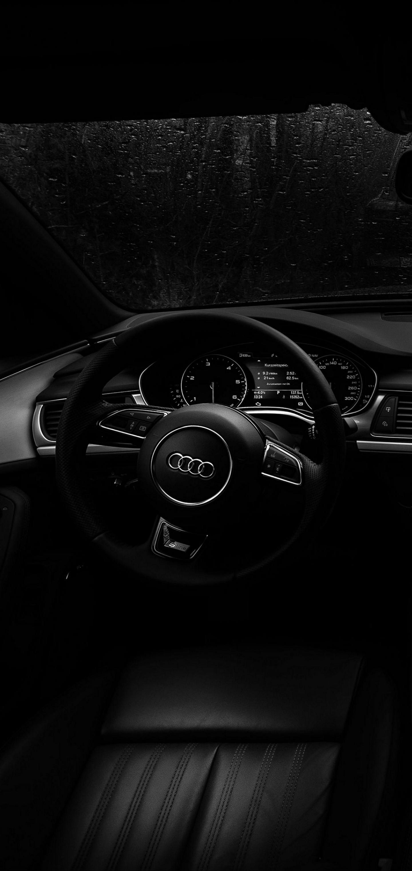 Audi Steering Wheel Wallpaper 1440x3040