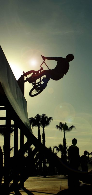 BMX Cycle Jump Wallpaper 1440x3040 380x802