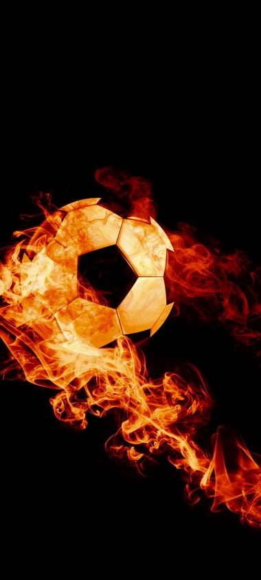 Ball Fire Football 1080x2400 380x844