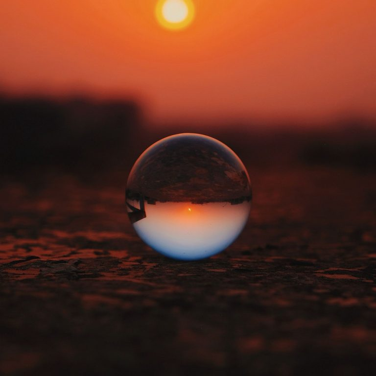 Ball Glass Sunset Wallpaper 1024x1024 768x768