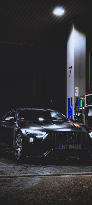 Benz Car Refueling Rain 1080x2400 380x844