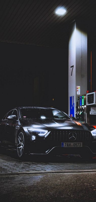 Benz Car Refueling Rain Wallpaper 1440x3040 380x802