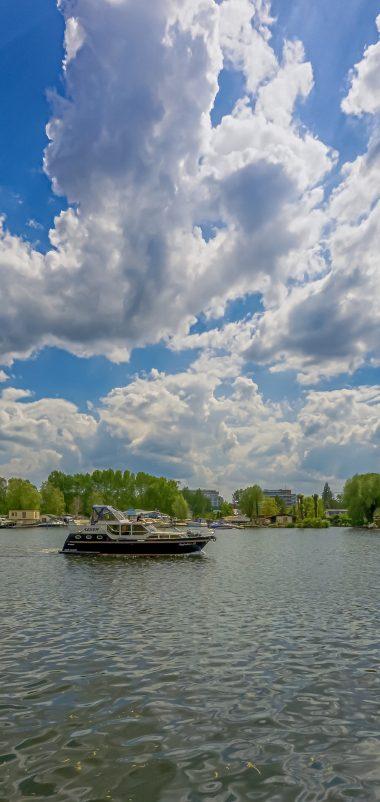 Berlin Koepenick River Boat Sky Wallpaper 1440x3040 380x802
