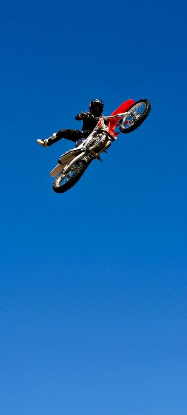 Bike Jump Blue Sky 1080x2400 380x844