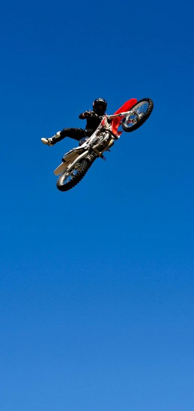 Bike Jump Blue Sky Wallpaper 1440x3040 380x802