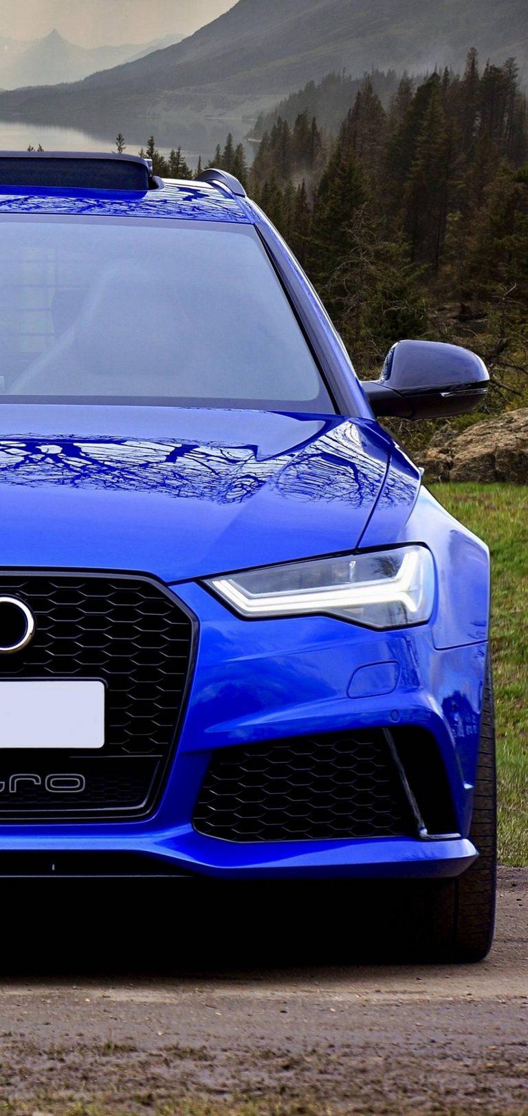 Blue Car Side Wallpaper 1440x3040 768x1621