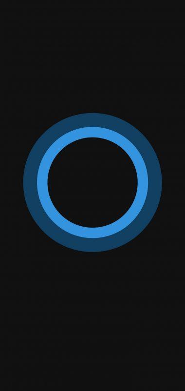 Bluish Circles Minimal Wallpaper 1440x3040 380x802