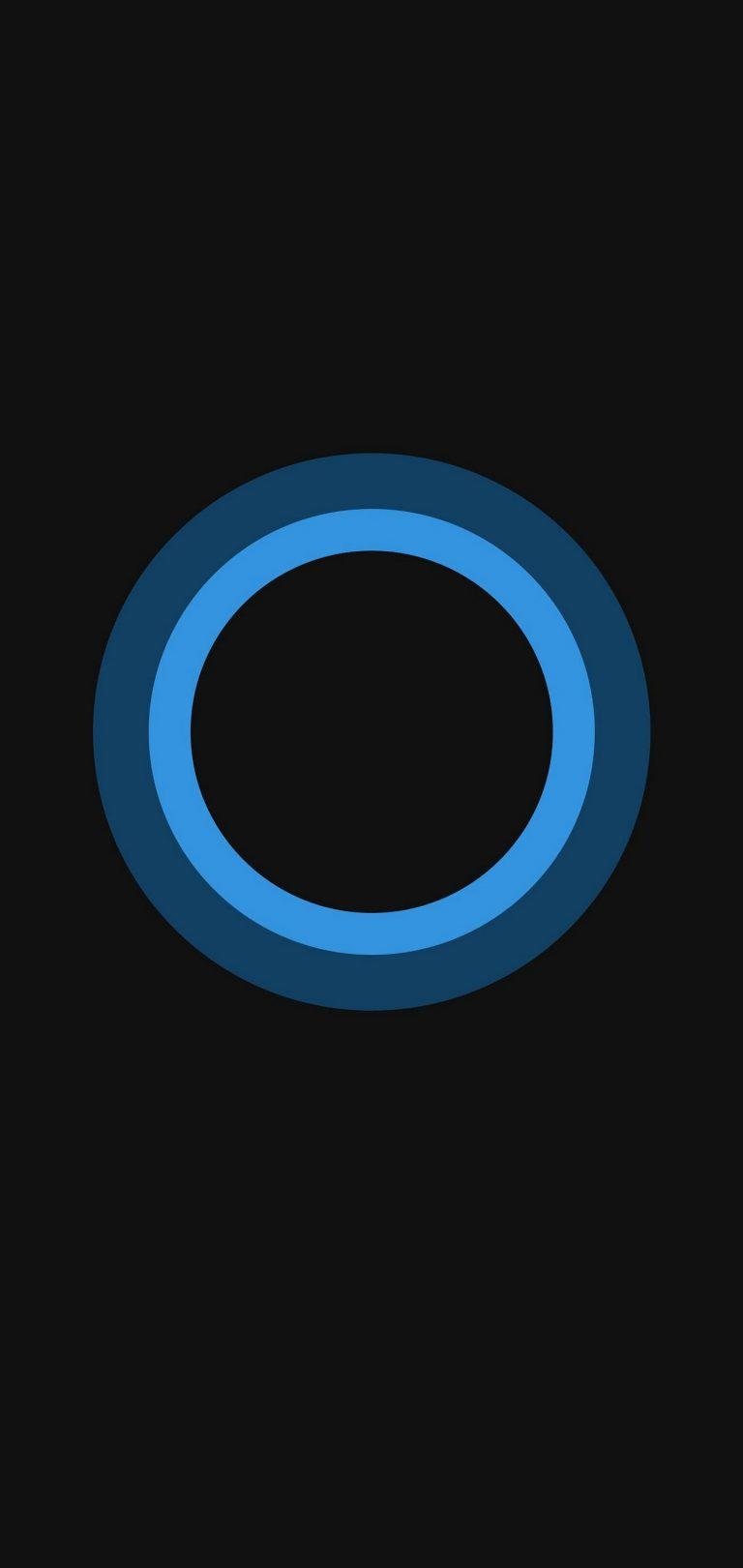 Bluish Circles Minimal Wallpaper 1440x3040 768x1621