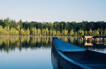 Boat Canoe Lake Trees 1024x600 340x220