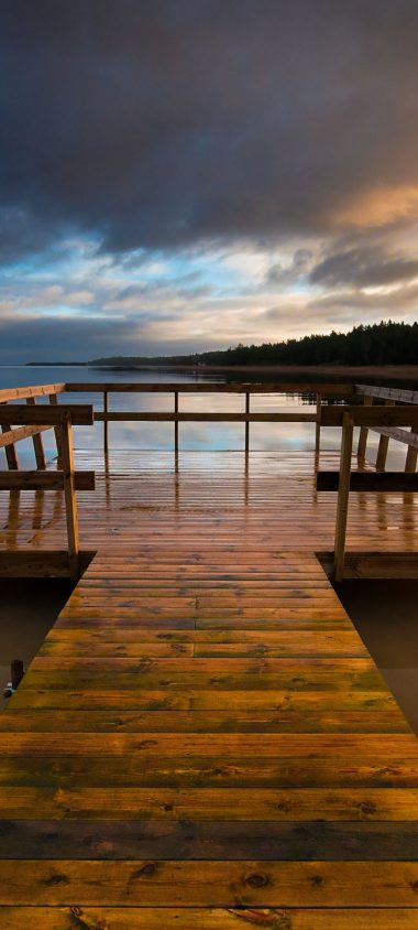 Bridge Lake Wooden Pier 1080x2400 380x844
