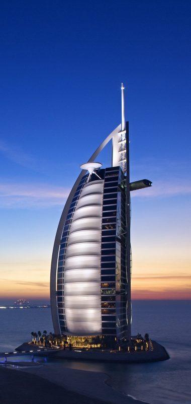 Burj Al Arab Hotel Dubai Uae Sky Wallpaper 1440x3040 380x802