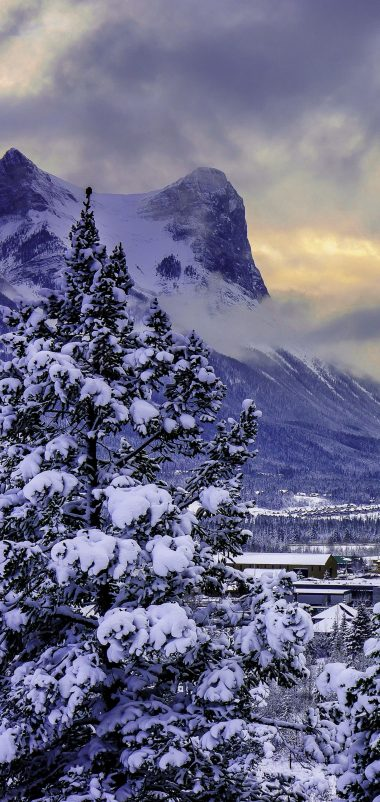 Canada Mountain Alberta Banff National Park Wallpaper 1440x3040 380x802