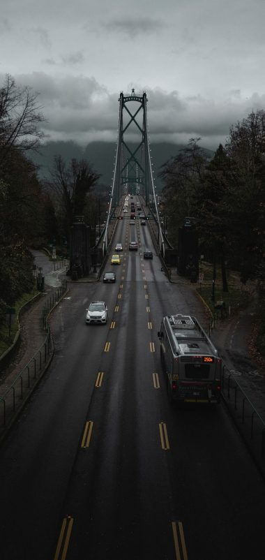 Canada Road Bridge Wallpaper 1440x3040 380x802