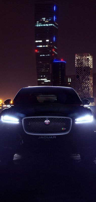 City Jaguar Dark Car Wallpaper 1440x3040 380x802