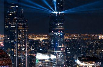 City Lights Aerial View Wallpaper 1440x3040 340x220