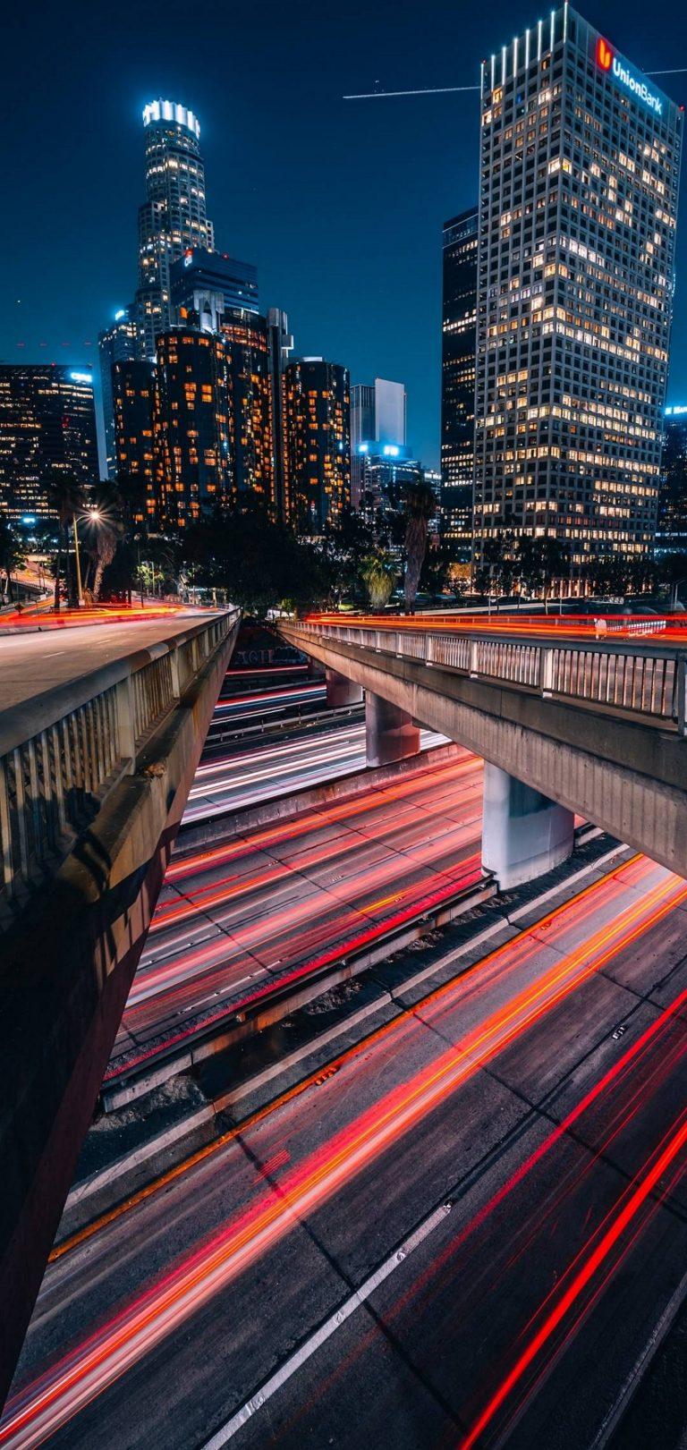 City Metropolis Los Angeles Wallpaper 1440x3040