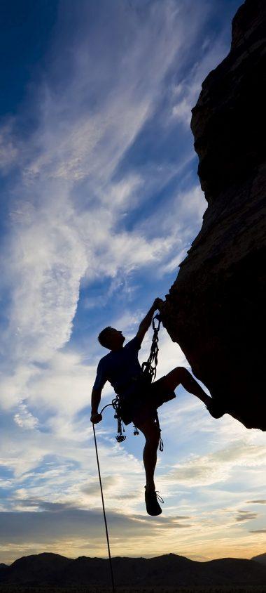Climber Extreme Silhouette Climbing 1080x2400 380x844