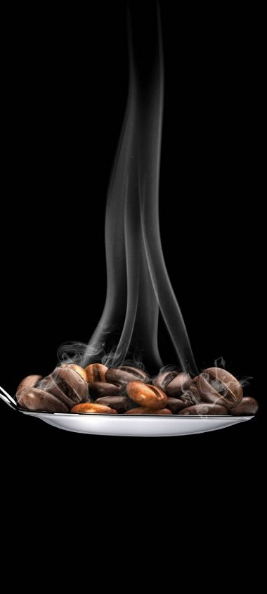 Coffee Beans Spoon Minimal 1080x2400 380x844