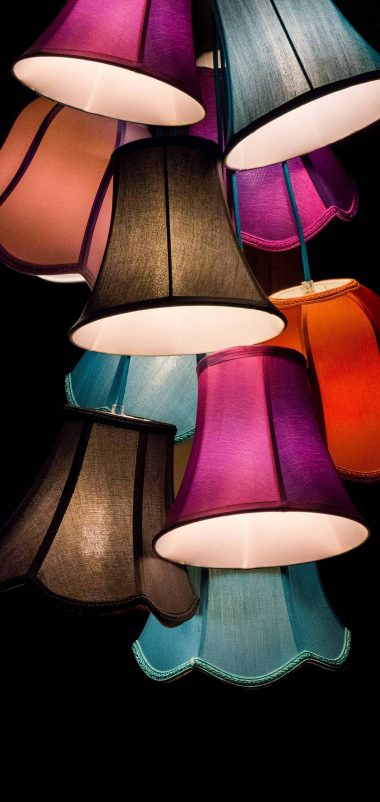 Colorful Lamps Wallpaper 1440x3040 380x802