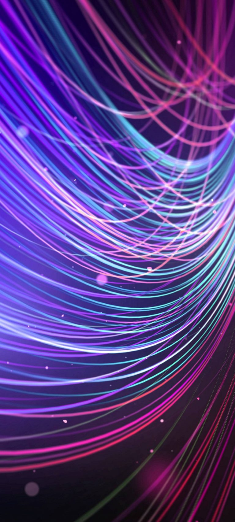 Colour Ful Wavy Lines Abstract 1080x2400 768x1707