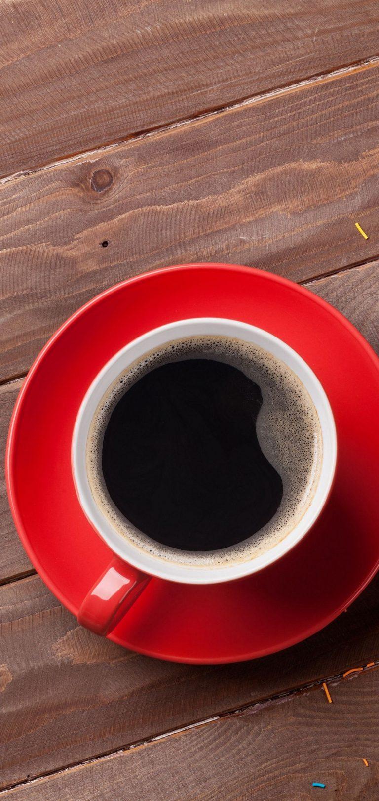 Cup Dark Coffee Wallpaper 1440x3040 768x1621