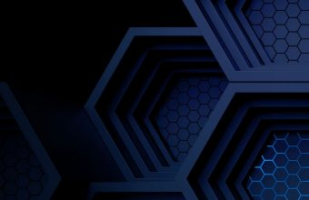Dark Blue Boxes 3D Abstract Wallpaper 1440x3040 340x220