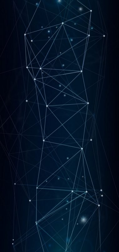 Dark Network Connection Wallpaper 1440x3040 380x802