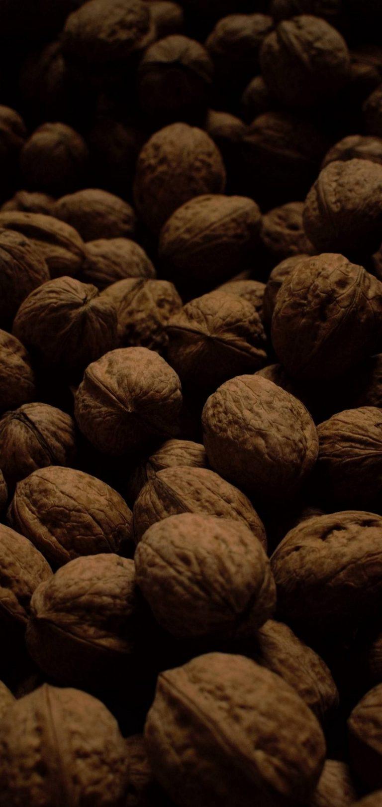Dark Walnuts Food Wallpaper 1440x3040 768x1621
