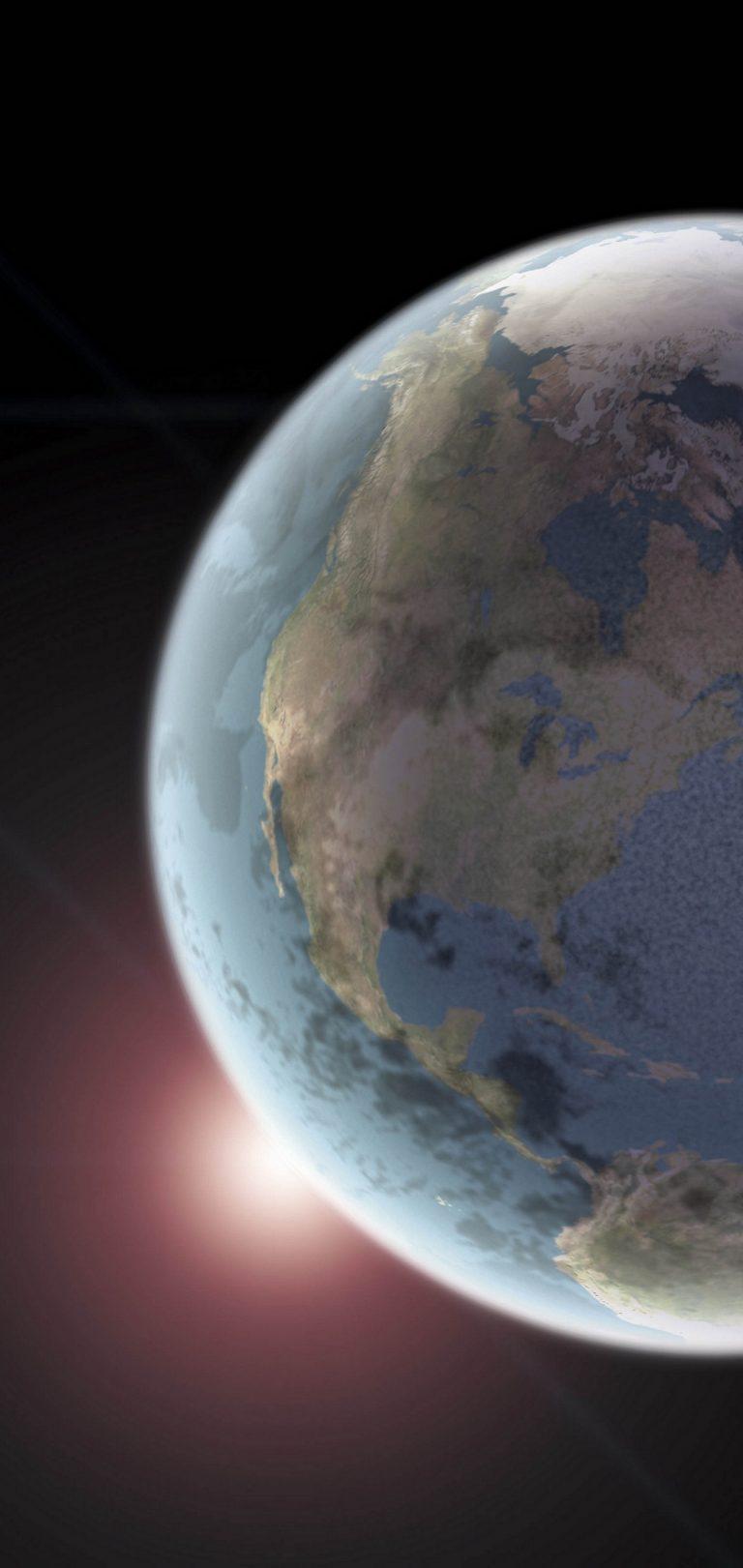 Earth Space Light Wallpaper 1440x3040 768x1621