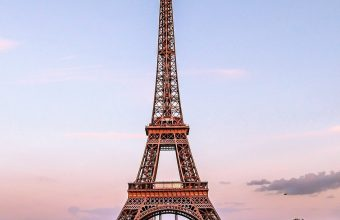 Eiffel Tower Paris Gold Evening France Wallpaper 1440x3040 340x220