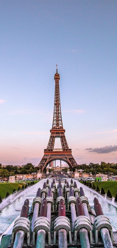 Eiffel Tower Paris Gold Evening France Wallpaper 1440x3040 380x802