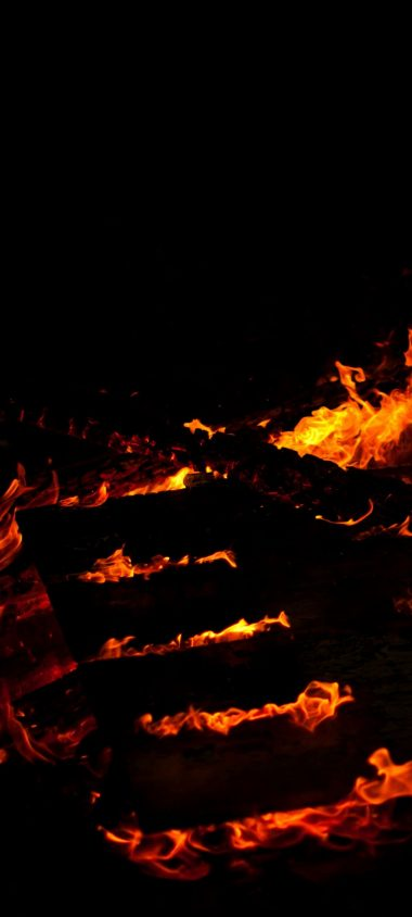 Fire Lines Black Background 1080x2400 380x844