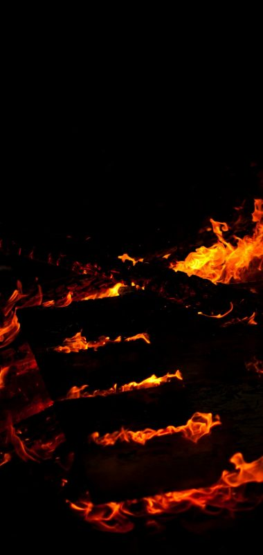 Fire Lines Black Wallpaper 1440x3040 380x802