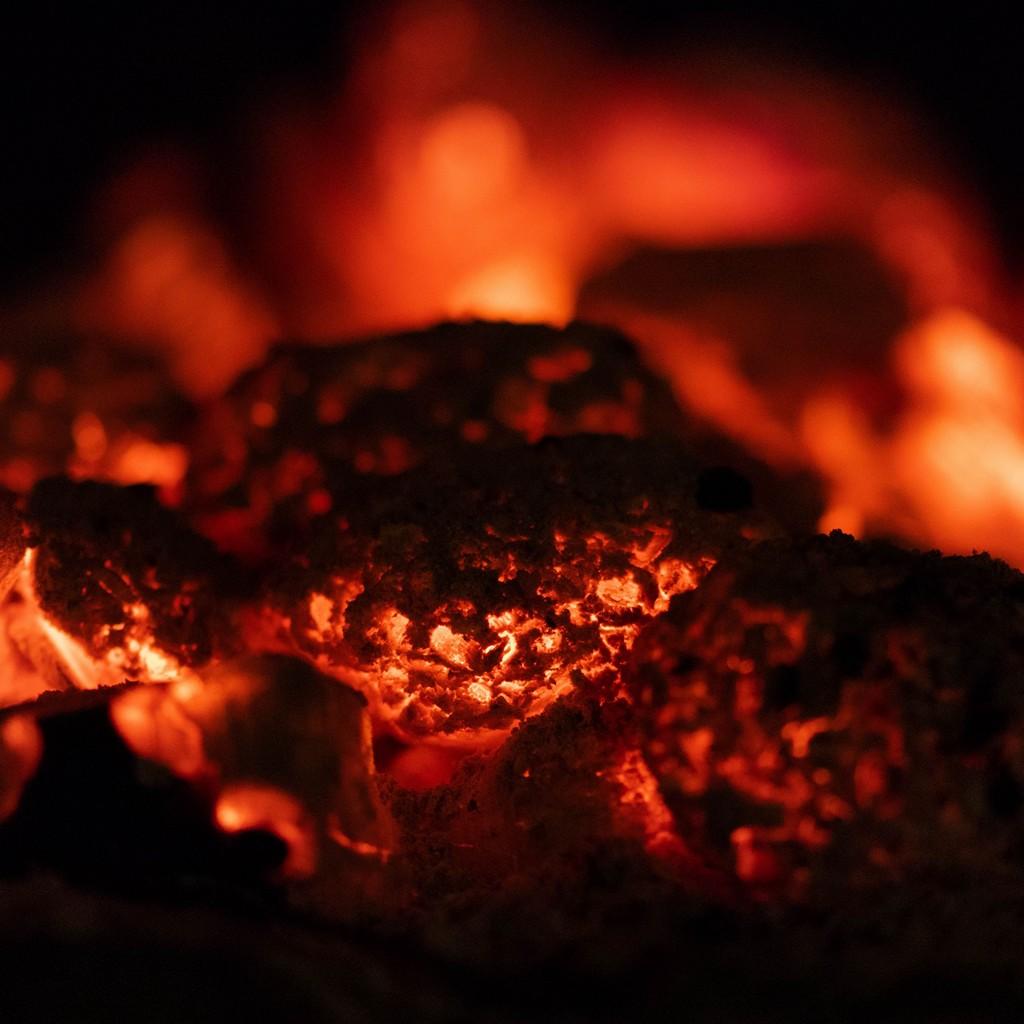 Fire Macro Ash Wallpaper