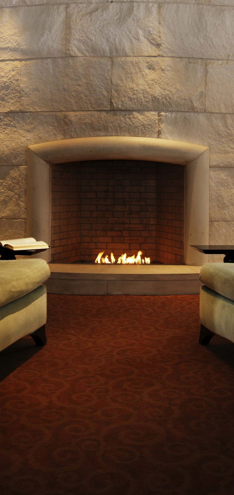 Fireplace Example Interior Living Wallpaper 1440x3040 768x1621