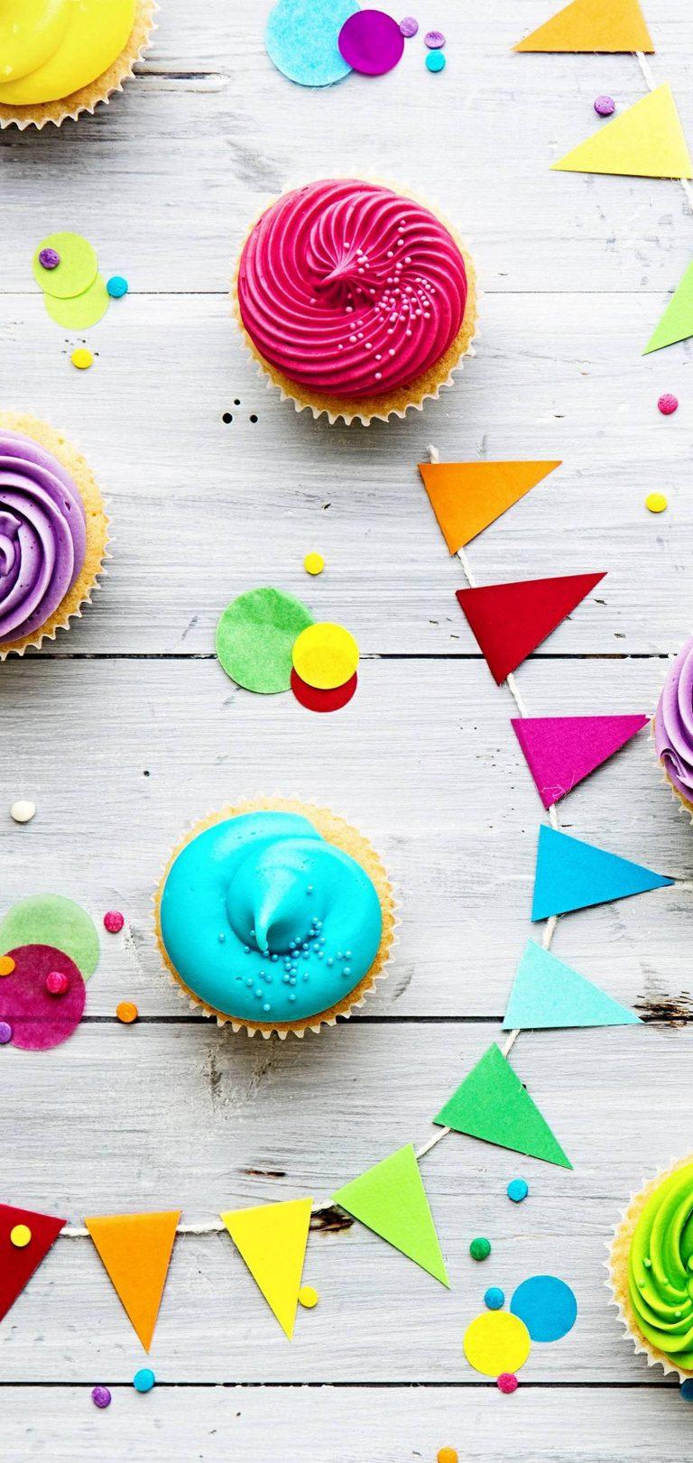 Food Cupcake Celebration Wallpaper 1440x3040 768x1621