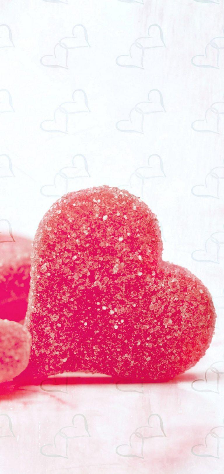 Hearts Candy Sugar Wallpaper 1440x3040 768x1621