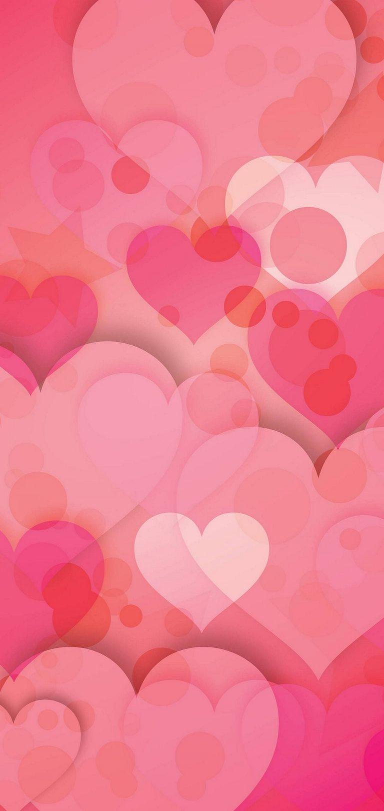 Hearts Love Pinky Wallpaper 1440x3040 768x1621