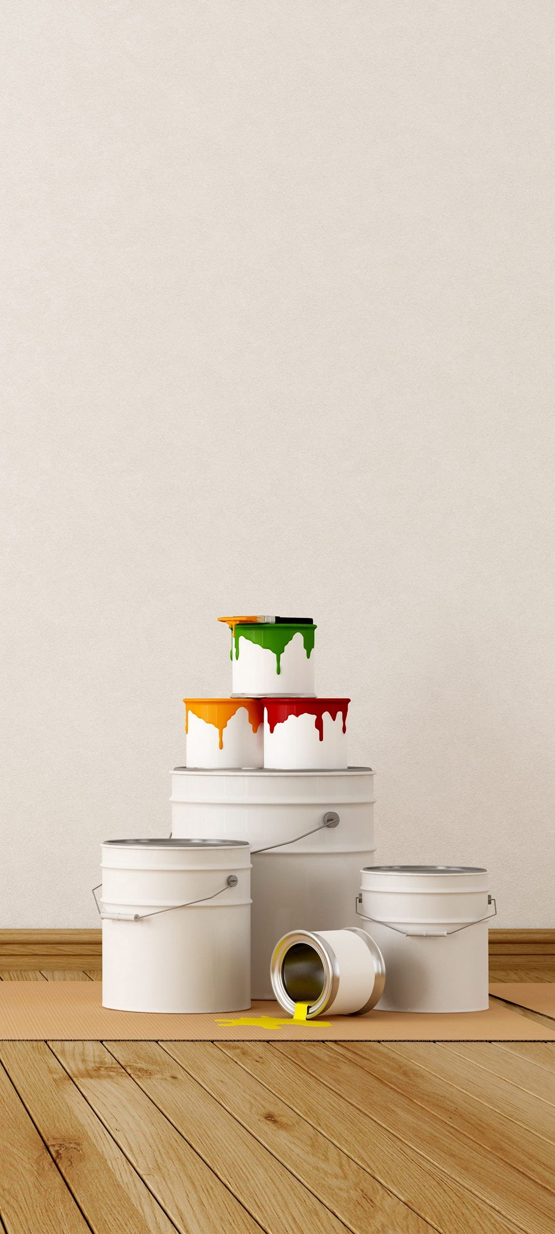 Interior Paint Concept Roller Wall