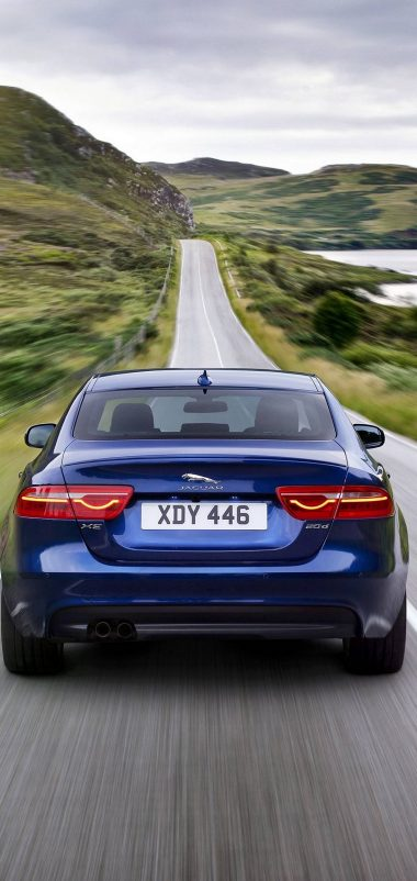 Jaguar XE Car Blur Wallpaper 1440x3040 380x802