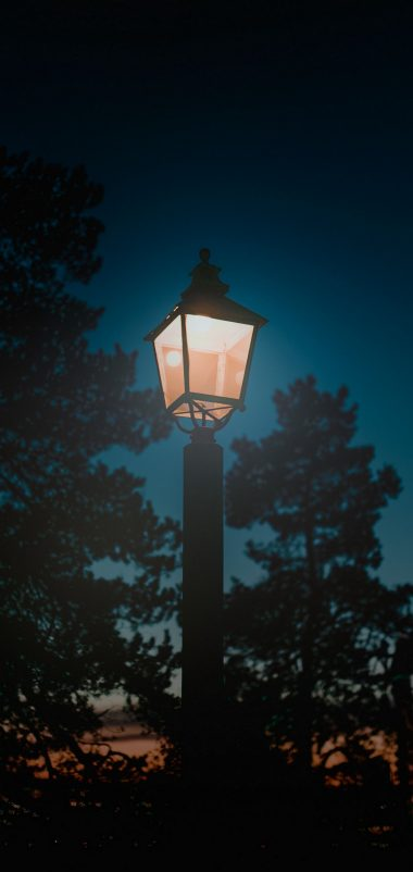 Lantern Night Pillar Light Wallpaper 1440x3040 380x802