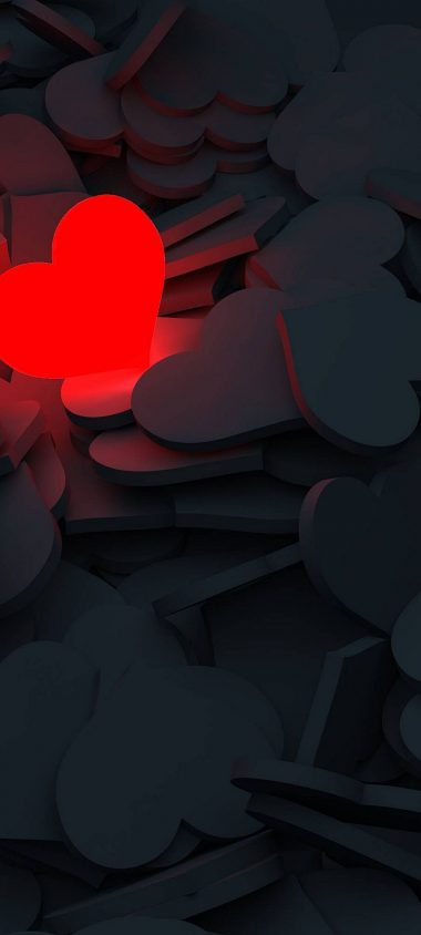 Lightning Love Red Heart 1080x2400 380x844
