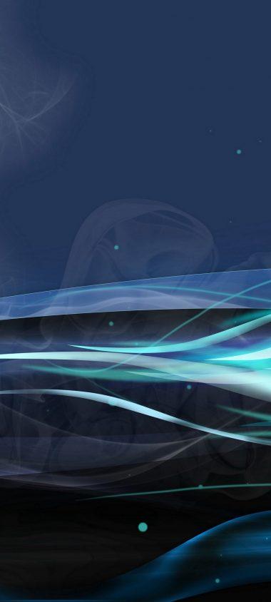 Lines Wavy Blue Light 1080x2400 380x844