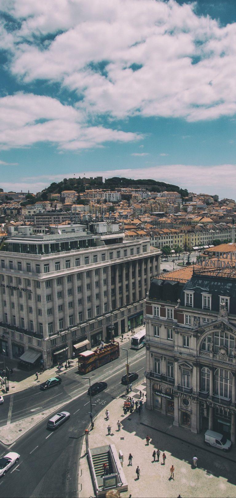 Lisbon Portugal Buildings View Wallpaper 1440x3040 768x1621