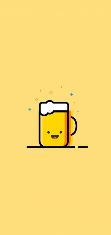 Minimal Emoji Cup Of Tea Wallpaper 1440x3040 380x802